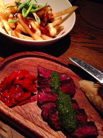 Distil: poutine with argentenian steak