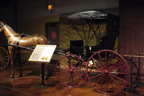 Days of '76 Museum: A horse and cart