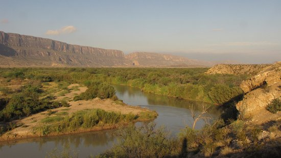 Alpine, TX: The Rio Grande, from the road to St. Elena Canyon.