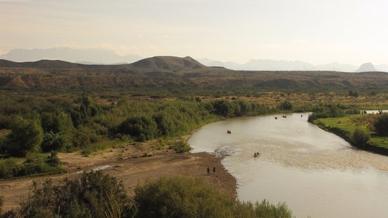 Alpine, TX: The Rio Grande, from the St. Elena Canyon Trail. We saw lots of canoes.
