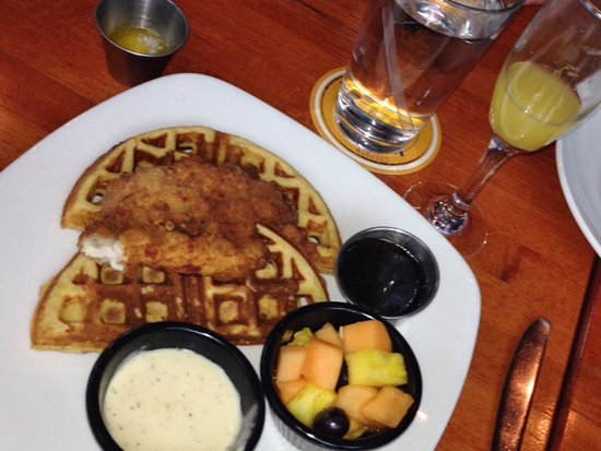 FnG Eats: Chicken & Waffles ~ chicken pan grilled to tender perfection