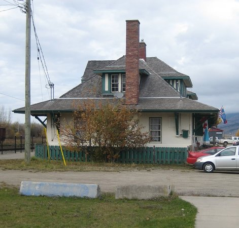 McBride, Canada: Side view of the station