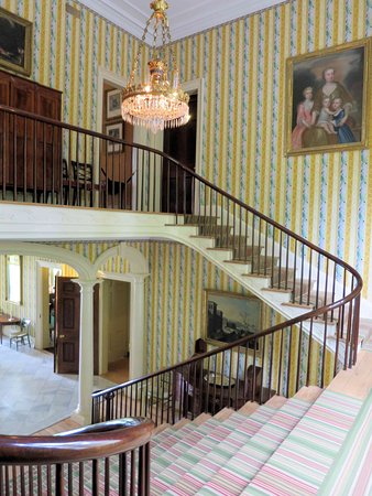 Garrison, NY: Boscobel House - main stairs with family painting