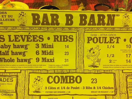 """Whole Hawg"" Rib dinner! - Picture of Bar B Barn, Montreal ..."