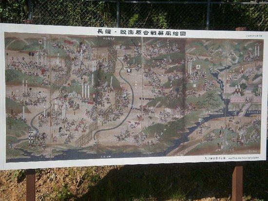 Shitaragahara History Museum : 馬防柵がある入口の絵巻