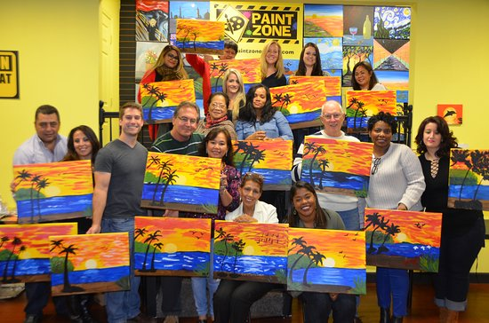 Rutherford, NJ: Corporate Painting Party, fun team building activity