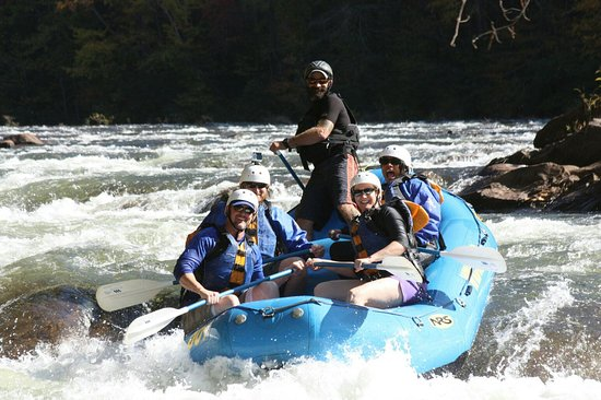 Ducktown, TN: That's me, back right, screaming like a madwoman :) and Ryan our guide keeping it all under cont