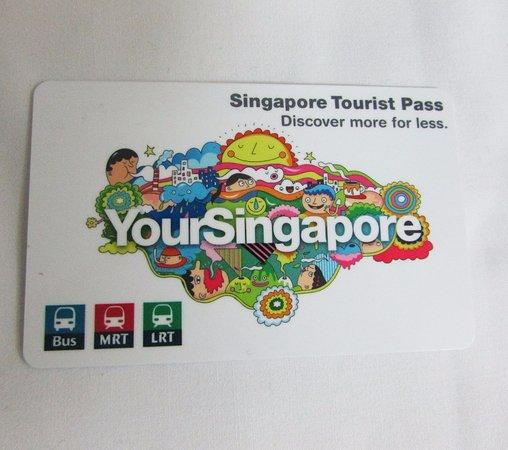 Kartu Turis Singapura Singapore Tourist Pass Tampak Depan