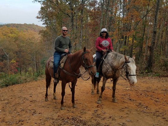 Copperhill, TN: Riding Thor and Ethos at Blanche Manor, Blue Ridge Mountains