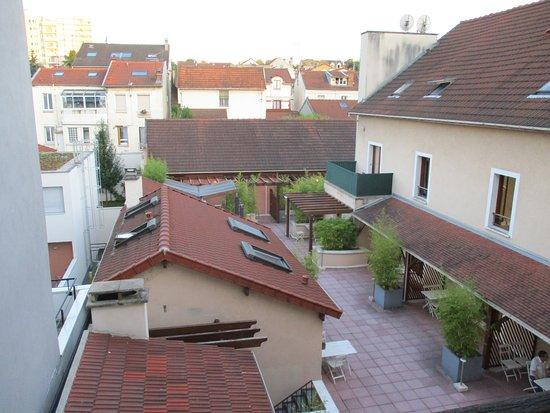 La Ferme des Barmonts: View from our kitchen window.