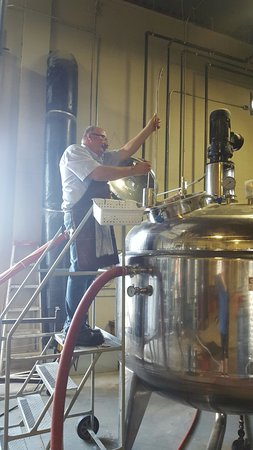 Nisku, Canada: Checking the mash