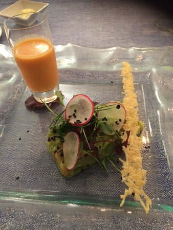 Sant Climent, Spain: Vegetable tartin with parmesan wafer starter