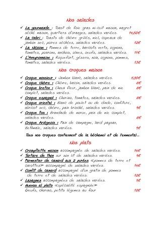 Ax-les-Thermes, Francja: menu Pg2