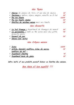 Ax-les-Thermes, Francja: menu Pg3
