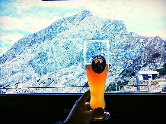German food and beer on the alps. Lift tickets to the Alpspitz are reasonable (~€25/person) and