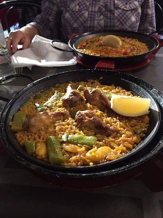 casa luciano sea food paella and valenciana paella