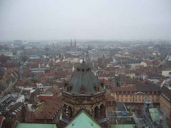 Catedral de Notre Dame de Estrasburgo: Vue depuis le haut de la cathédrale
