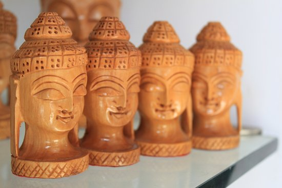 Hand Made Hand Carved Wooden Handicrafts Buddha Picture Of Art