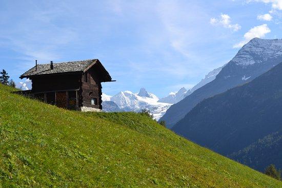 Ayer, Schweiz: La vue des sommets