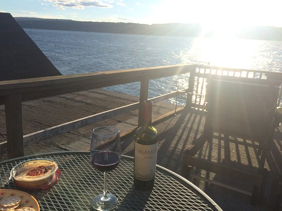 Finger Lakes, NY: View from the private dock