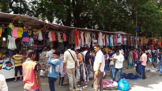 Garment stalls on Linking Road