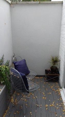 Hotel 55: Terrasse depuis la chambre des parents