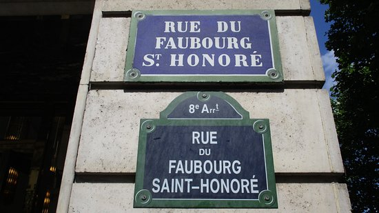 Image result for rue de faubourg saint honore paris
