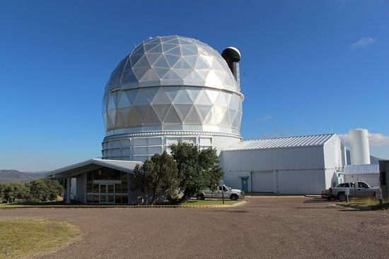 McDonald Observatory: One of the three large telescopes on the Mountain