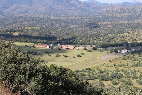 McDonald Observatory: Frank N Bash Visitors Center from the Observatories