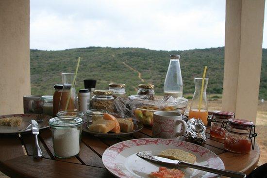 Paterson, Sydafrika: Blick vom Frühstückstisch