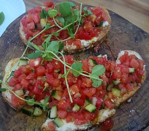 the mill watermelon bruschetta