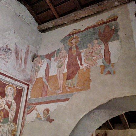 Roccaforte Mondovi, Italia: Affresco XI sec navata centrale