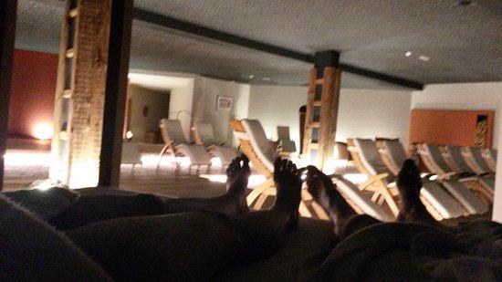 Tiers, Italia: Relax di coppia dopo la sauna