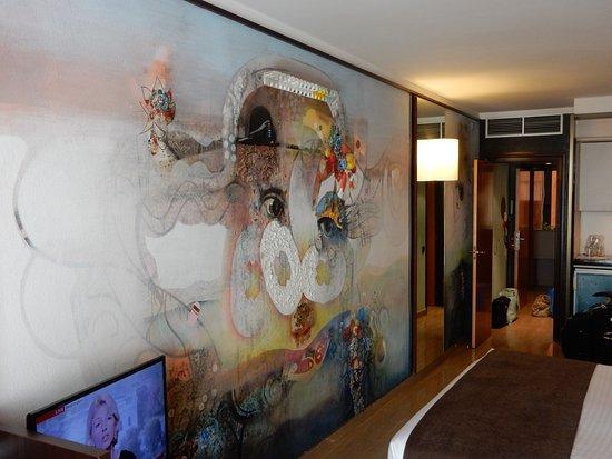 Hotel Estela Barcelona - Hotel del Arte: painting in our room