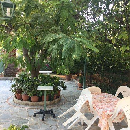 Elliniko, Griechenland: Chambre de bonne taille avec petite terrasse salle de douche et wc!! Calme garanti