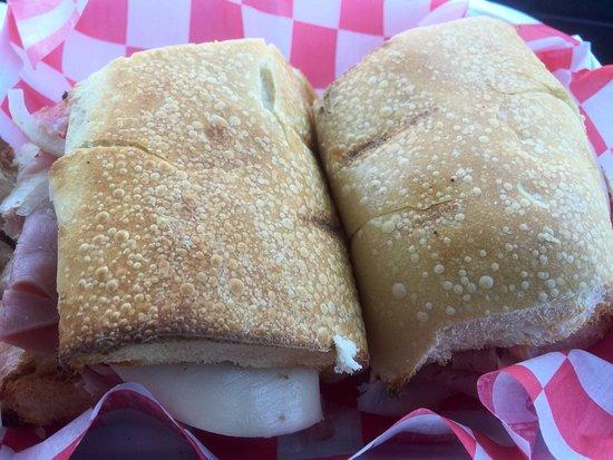 Albion, นิวยอร์ก: Delicicious Ham sub!!