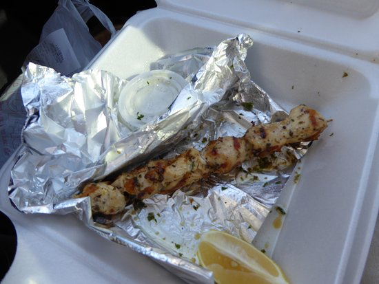 Katerina's Greek Cuisine: Chicken Souvlaki Appetizer
