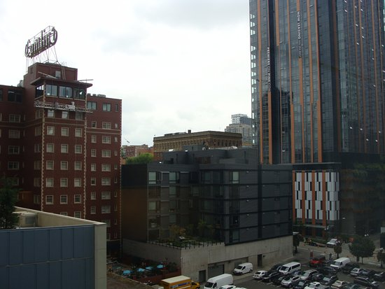 From room 642 looking to the right overlooking 8th Ave