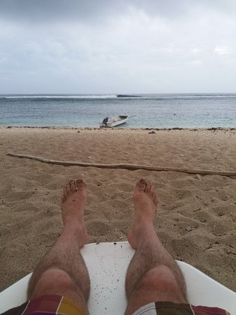 Ha'atafu Beach Resort: Sandy toes