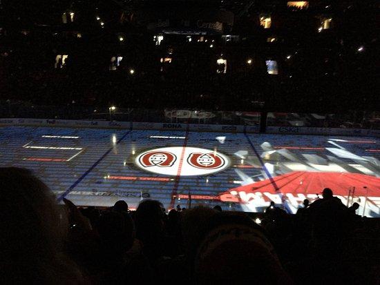 Montreal, Canada: loved the light show on the ice before the game