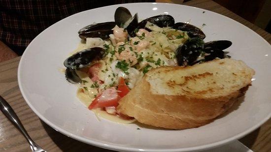 Moclips, Ουάσιγκτον: Seafood Fettucini
