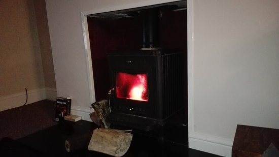 Ruswarp, UK: Cosy fire