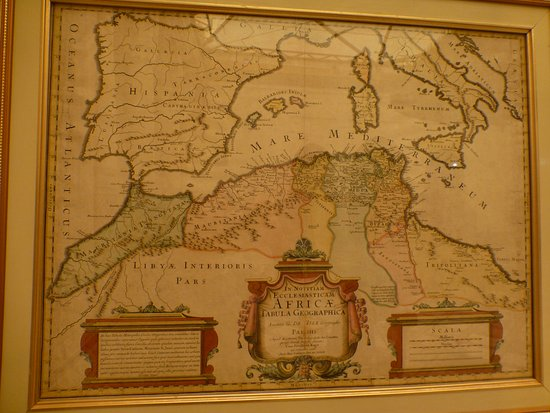 Very interesting old map on a wall Picture of Museum of Marrakesh