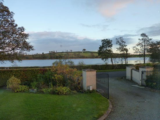 Dungannon, UK : Looking out from the bedroom over Roughan Lough