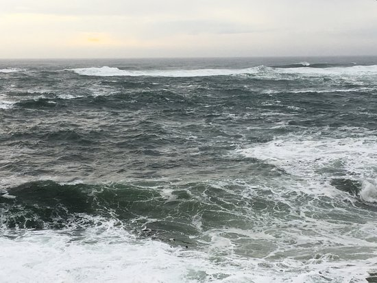 Channel House: stormy Pacific ocean