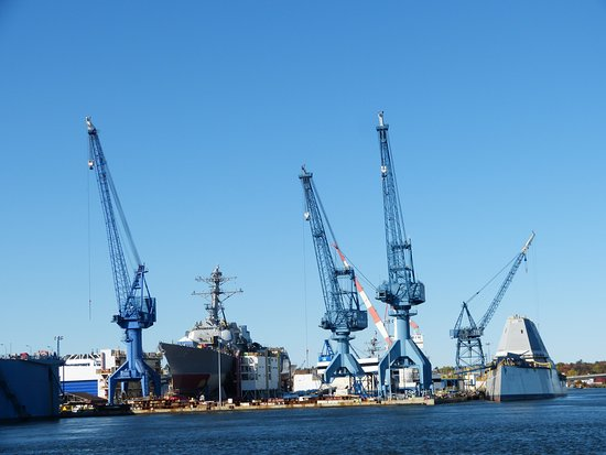 Maine Maritime Museum: Great views of the Bath Iron Works