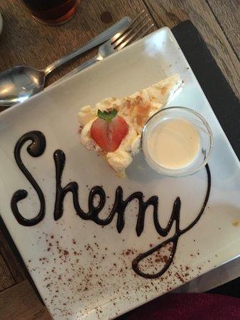Blaenavon, UK: sherry truffle cheesecake AMAZING!!!