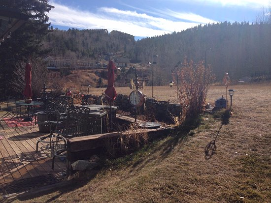 Central City, CO : Great Veranda view from Breakfast