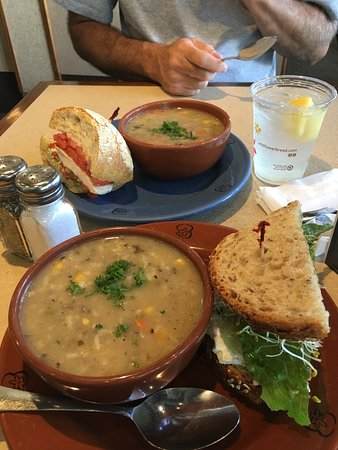 Wildflower Bread Company: Soup and half a sandwich was plenty for lunch!