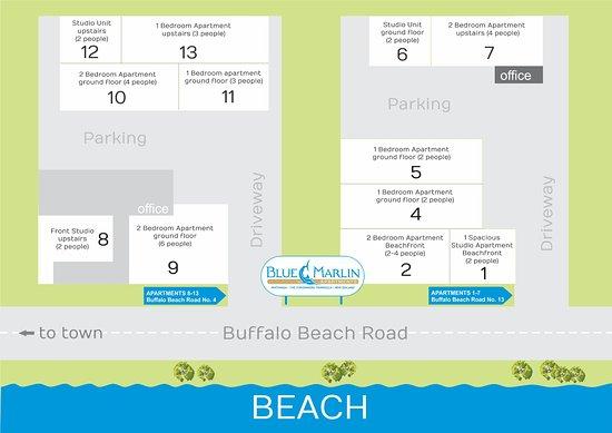 Blue Marlin Apartments: Floor Plan of all units